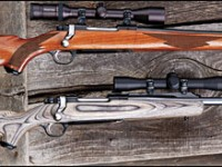 Compared to a standard Ruger Mark II rifle, the Frontier's stock is about 5.25 inches shorter in overall length. It is shortened at the rear and also bobbed at the front.
