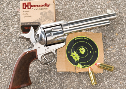 By Greg Rodriguez    Uberti's El Patron shot very well with Hornady's 225-grain FTX