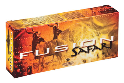 The Fusion Safari bullet is a boattail design with a jacket that is electro-chemically applied to the core.