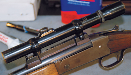 By Reid Coffield    It can be quite a challenge to mount a scope on a gun for which