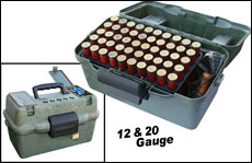 Two, 50 round trays designed to correctly fit either 12- or 20-gauge.
