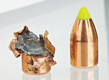 The new (as of 2010) Traditions muzzleloader bullet is built by Hornady, and on-game performance will be very similar to that of Hornady's SST