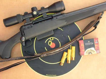 The new Savage Model 220 F makes a centerfire rifle unnecessary for eastern hunters.