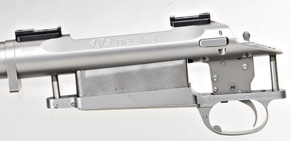 Originally designed by Glen Harrison, a serious benchrest shooter who at the time lived on Nesika Bay (near Puget Sound), Nesika actions are built from 15-4 vacuum arc remelt PH stainless steel.
