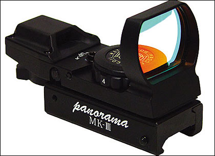 RSR Group Inc. and Hakko offer two Panorama Electo-Dot Sights that offer a