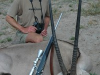 "Wayne used a Zeiss 8x32 to find this gemsbok. ""More power is seldom necessary – or desirable!"""