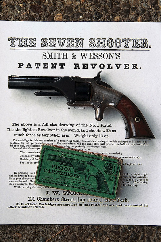 Model 1, .22 Short (1857) — first revolver to shoot a self-contained cartridge.