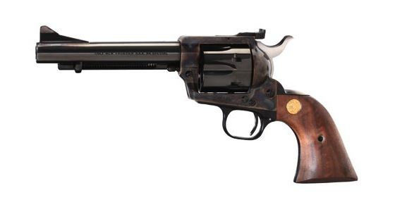 Like the original Colt New Frontier, the 2011 model comes with an adjustable rear sight. Other features include a ramped front sight, blue/case-colored finish, and walnut grips. Optional barrel lengths are 4.75, 5.5, and 7.5 inches.