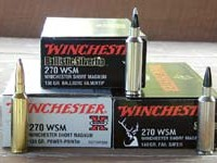 The new .270 WSM is initially available loaded with 130-grain Ballistic Silvertip, 140-grain Fail Safe, and 150-grain Power-Point bullets while the new 7mm WSM is available in 140-grain Ballistic Silvertip, 150-grain Power-Point, and 160-grain Fail Safe loadings.