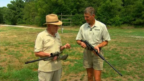 Dick Metcalf and Wayne Van Zwoll discuss which is best for hunting, a slug gun or a modern