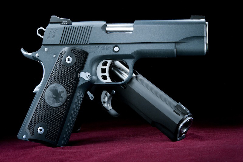 Jason Teague takes the Nighthawk Ladyhawk 9mm for a walk down range. This 1911-style pistol