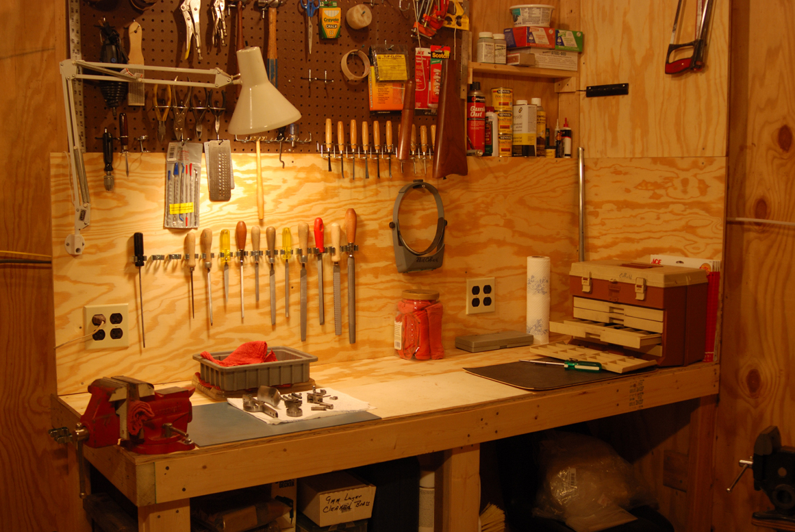 workbench ideas for small garage - The Gunsmith Home Shop Doesn t Have to Be Big Shooting