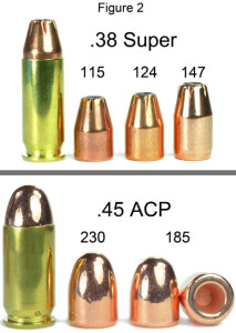 Bullets used for these tests. The Berry's 185-grain bullet is a round nose hollow base design. Click to enlarge.