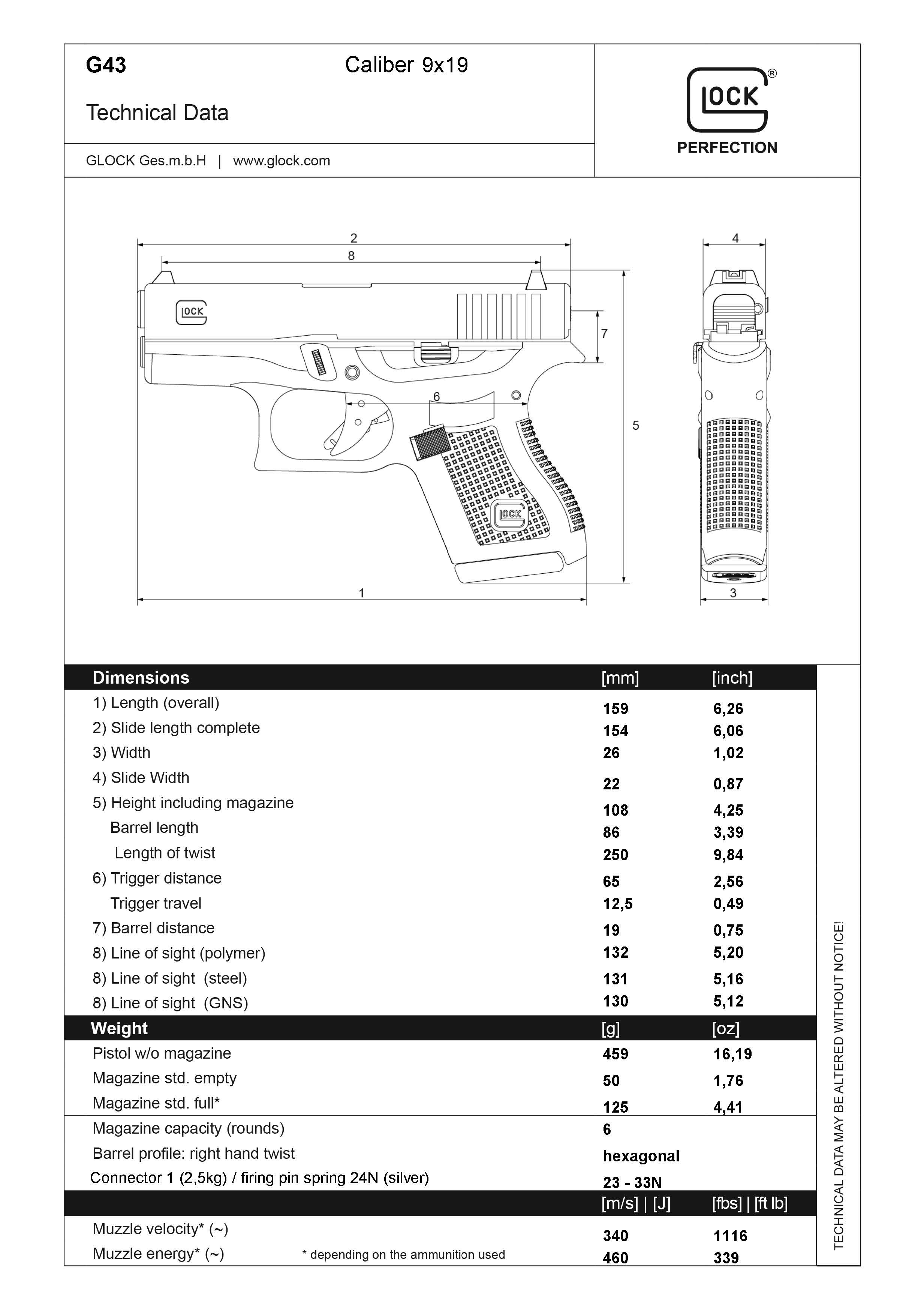 First Look Glock 43 Single Stack Subcompact 9mm