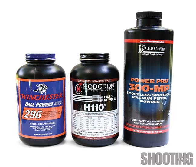 H110 and W296 .44 mag reloading powders