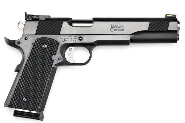 The chamber of the Premier II 10mm's 6.0-inch match-grade barrel is throated and fully supported. The pistol is meticulously fitted, producing the tight slide-to-frame fit that Les Baer Custom pistols are famous for.