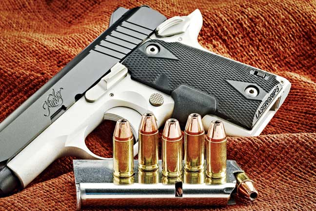 Standard magazine capacity for the Micro 9 is six rounds, and the pistol comes with one flush-fitting magazine. An extended seven-round magazine is available for purchase as a separate item.