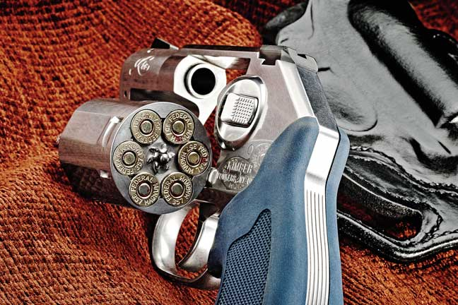 The all-steel, double-action-only K6s revolver is chambered for .357 Magnum, and its cylinder holds six rounds.