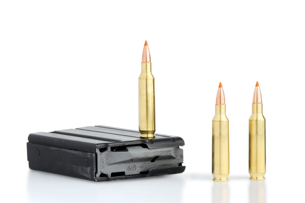 Because its case is fatter than the 5.56/.223's case, the .22 Nosler feeds best from 6.8 SPC magazines.