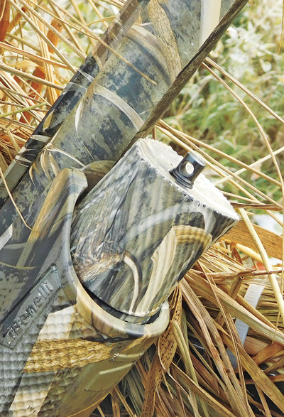 An ergonomically shaped easy-off magazine tube makes field-stripping quick and easy.