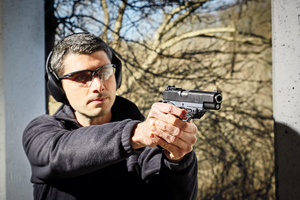 The .45 ACP TRP Operator, Tactical Gray was accurate, 100 percent reliable, and comfortable to shoot.
