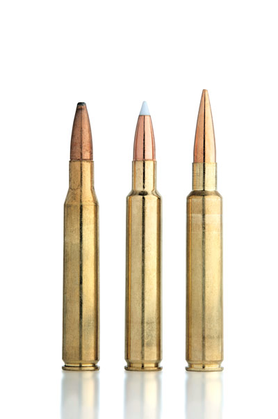 LEFT TO RIGHT: .280 Rem. 140-Gr. Core-Lokt .280 AI 140-Gr. AccuBond .280 AI 168-Gr. Berger VLD-H