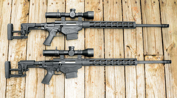 To make an apples-to-apples comparison of the new 6mm Creedmoor and the 6.5 Creedmoor, Layne used identical Ruger Precision Rifles with Bushnell Elite Tactical DMR II-i 3.5-21X 50mm scopes in Weaver tactical rings.