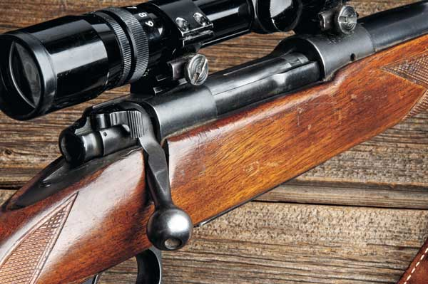 Winchester's Pre-'64 Model 70 featured a full-length, rotating claw extractor; a fixed ejector; a three-position wing-type safety; and dual, opposing locking lugs. Many riflemen contend that it is the finest production hunting rifle ever built.
