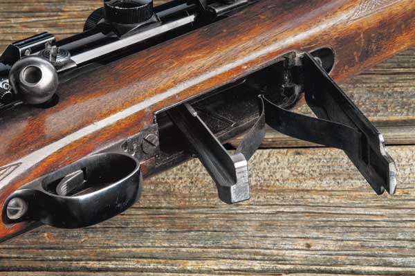 Until recently, Model 70 rifles utilized a two-piece bottom metal/trigger guard system. The middle screw usually has to be kept almost loose or it will stress the action and negatively affect accuracy.