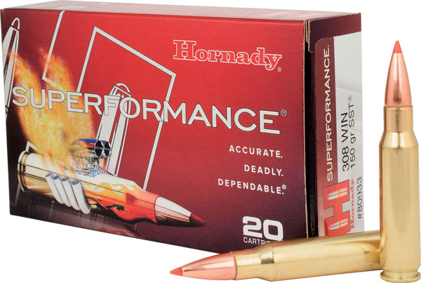 The .308 Winchester is a superb hunting cartridge with many bullet styles, like the Hornady SST, offered in factory ammo.