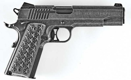"The ""We the People"" 1911 was extremely comfortable to shoot and achieved excellent accuracy, averaging 2.19 inches for five-shot groups at 25 yards with five factory loads."