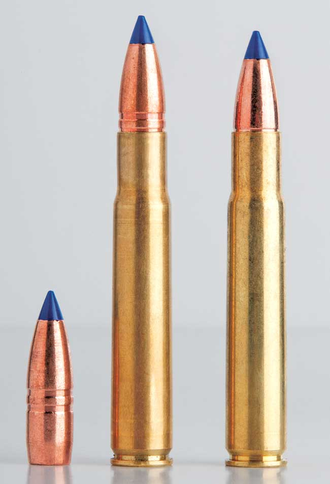 Because chamber and magazine length allow it, the author seats bullets out a good one-tenth inch or so longer than standard, which adds internal capacity and aids accuracy.