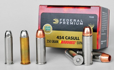 The .454 Casull dwarfs the traditional trio of Magnum revolver cartridges in size and raw performance.