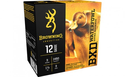 Browning BXD Waterfowl expands its versatility for waterfowlers by adding a 12 and 20 gauge, 3-inch No. 3 shotshell.