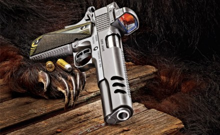 Appropriately named, Kimber's special 10mm Super Jägare Model 1911 is set specifically for hunting big game.