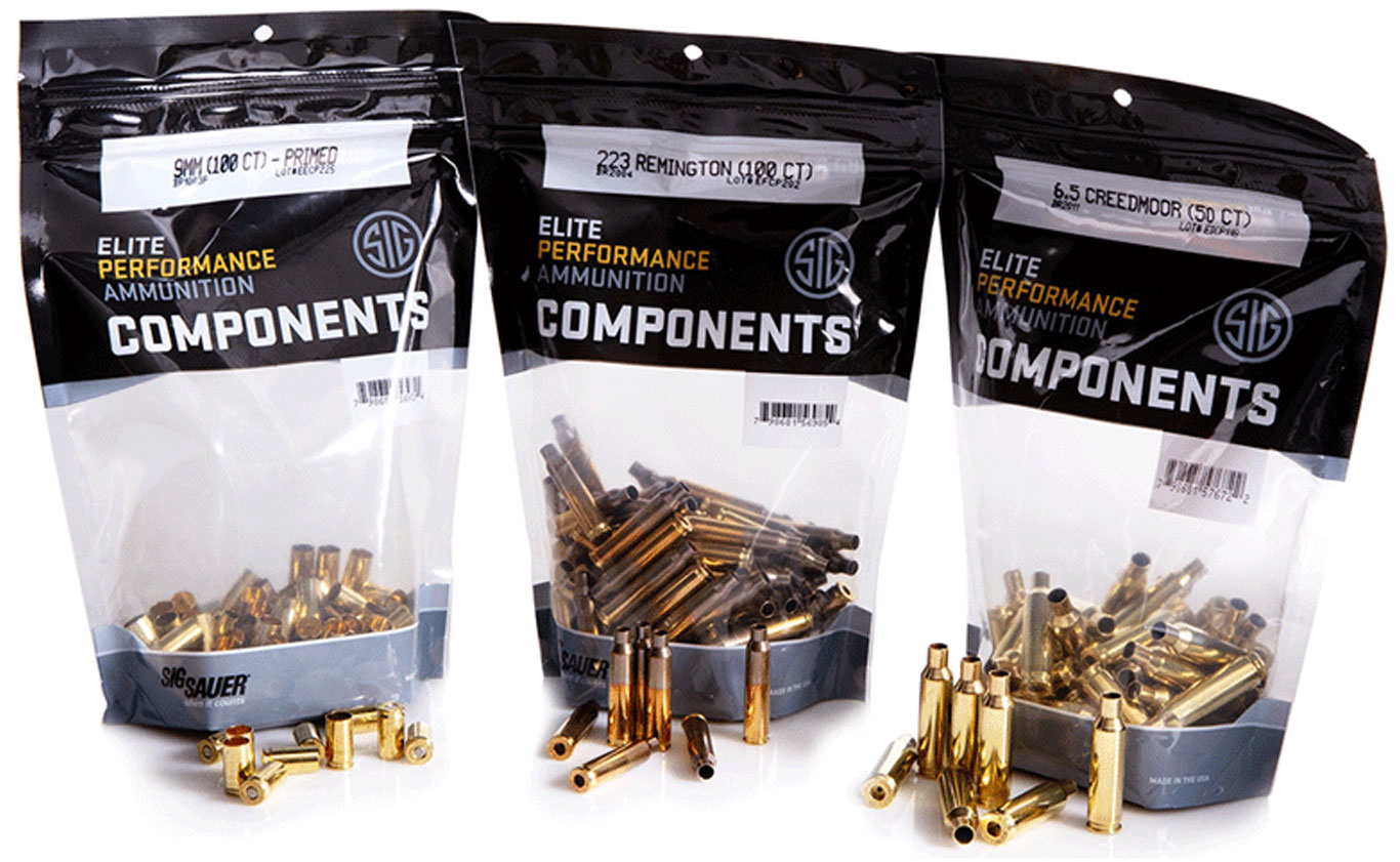 SIG SAUER Launches Brass Cartridge Components Line for Handloaders