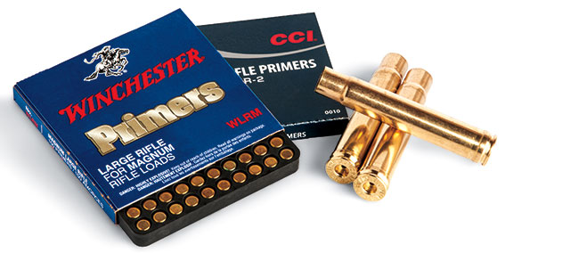 Big-bore cartridges are easy to handload. Since they often encounter rough handling in the field and because actions are often run fast and hard in the heat of the moment, it's best to prime with hard-cup primers like those by Winchester and CCI.