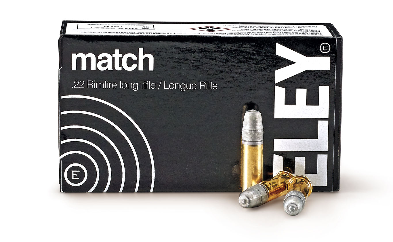 Eley Match is renowned among elite competition shooters for its excellent accuracy and performance. It is second in the world of .22 LR accuracy and performance (Eley Tenex is the world No. 1).