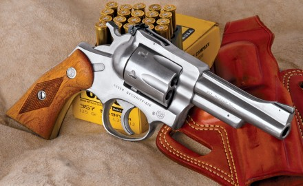 Although long discontinued, Ruger's first double-action revolver is still an excellent shooting tool.