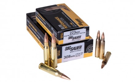 The SIG FMJ rifle ammunition fills a need for those who want to practice their shooting without paying match-grade prices for competition-level performance.
