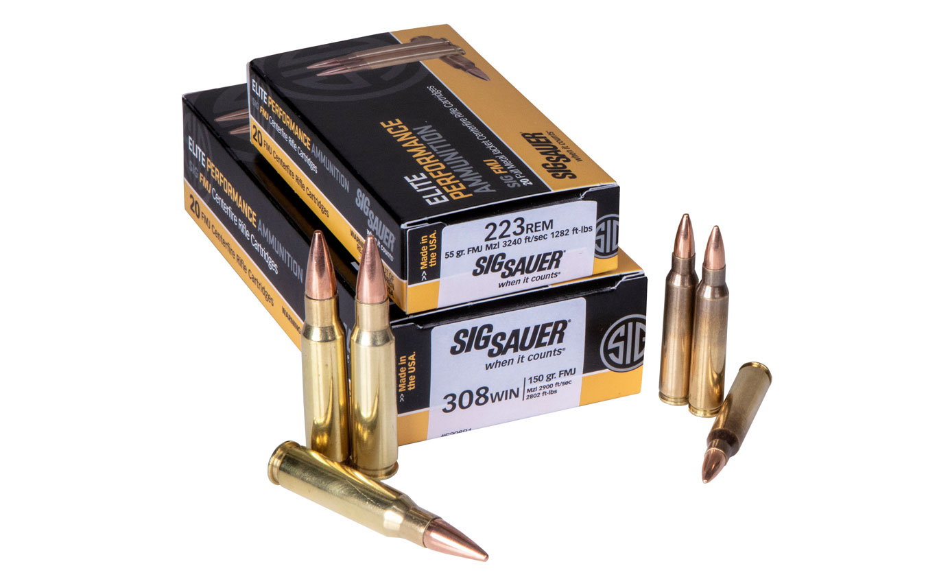 SIG SAUER Introduces 223 Rem and 308 Win FMJ Rifle Ammo