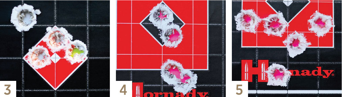 3. Another fine-shooting handload was the Sierra 140-grain SBT over 47.5 grains of VihtaVuori N160 powder. 4. Hornady's Superformance factory ammo loaded with the 139-grain GMX bullet chronographed 2,922 fps and was nicely accurate. 5. The Hornady Precision Hunter ammunition with the 150-grain ELD-X bullet registered 2,744 fps and averaged 1.20 inches for five-shot groups at 100 yards.