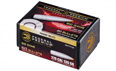 Federal Premium's newest component bullets are the Syntech TSJ handgun bullet and the Trophy Bonded Tip rifle bullets.