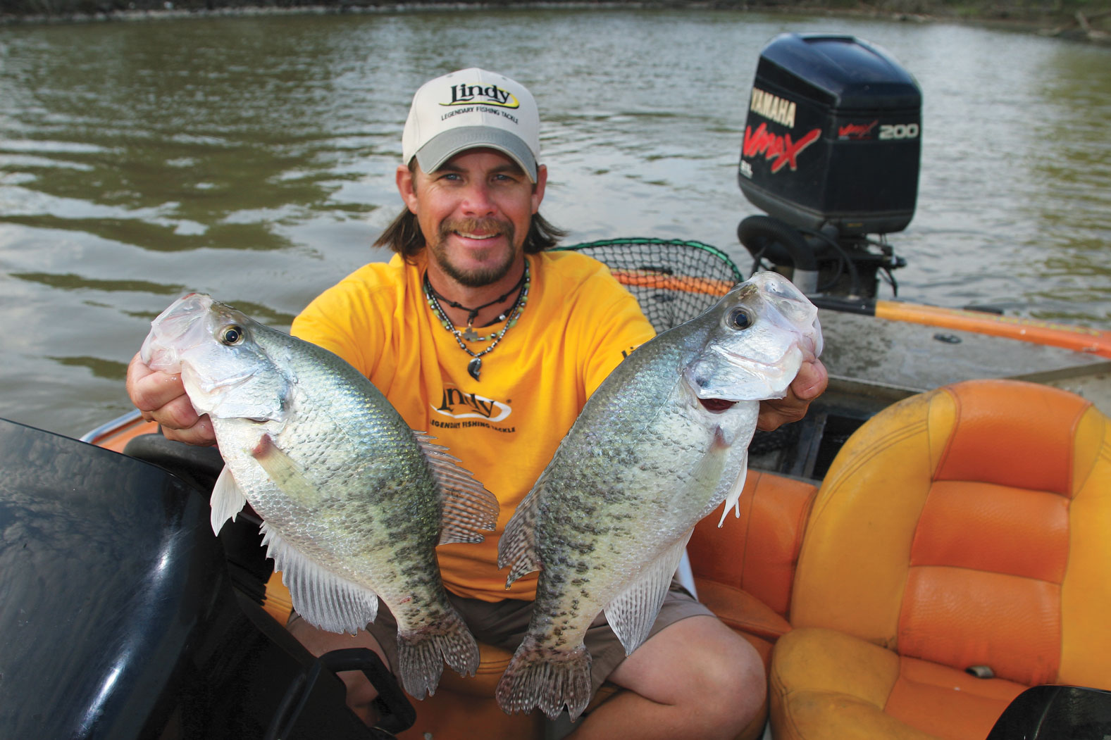Crappie lure colors in fisherman for Best time for bass fishing