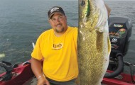 Captain Jason Muche finds walleyes where the food is, which is often in the upper layer of water.