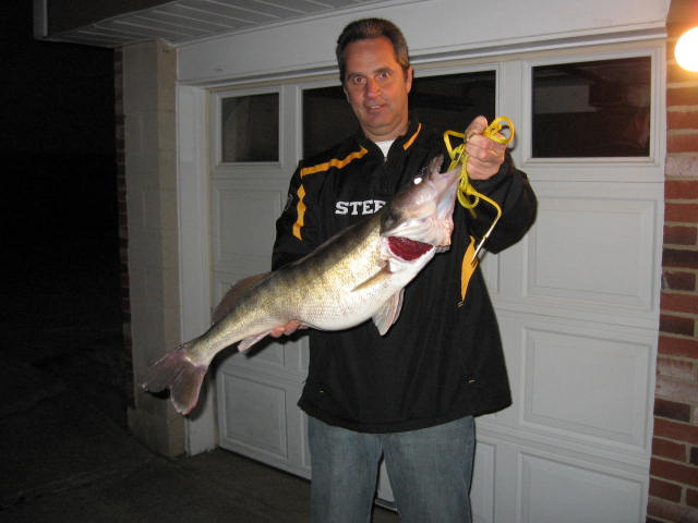 Rick Vucina Monaca pa.  I caught this nice walleye measuring 31 inches and 10 lbs. 11 oz. rght