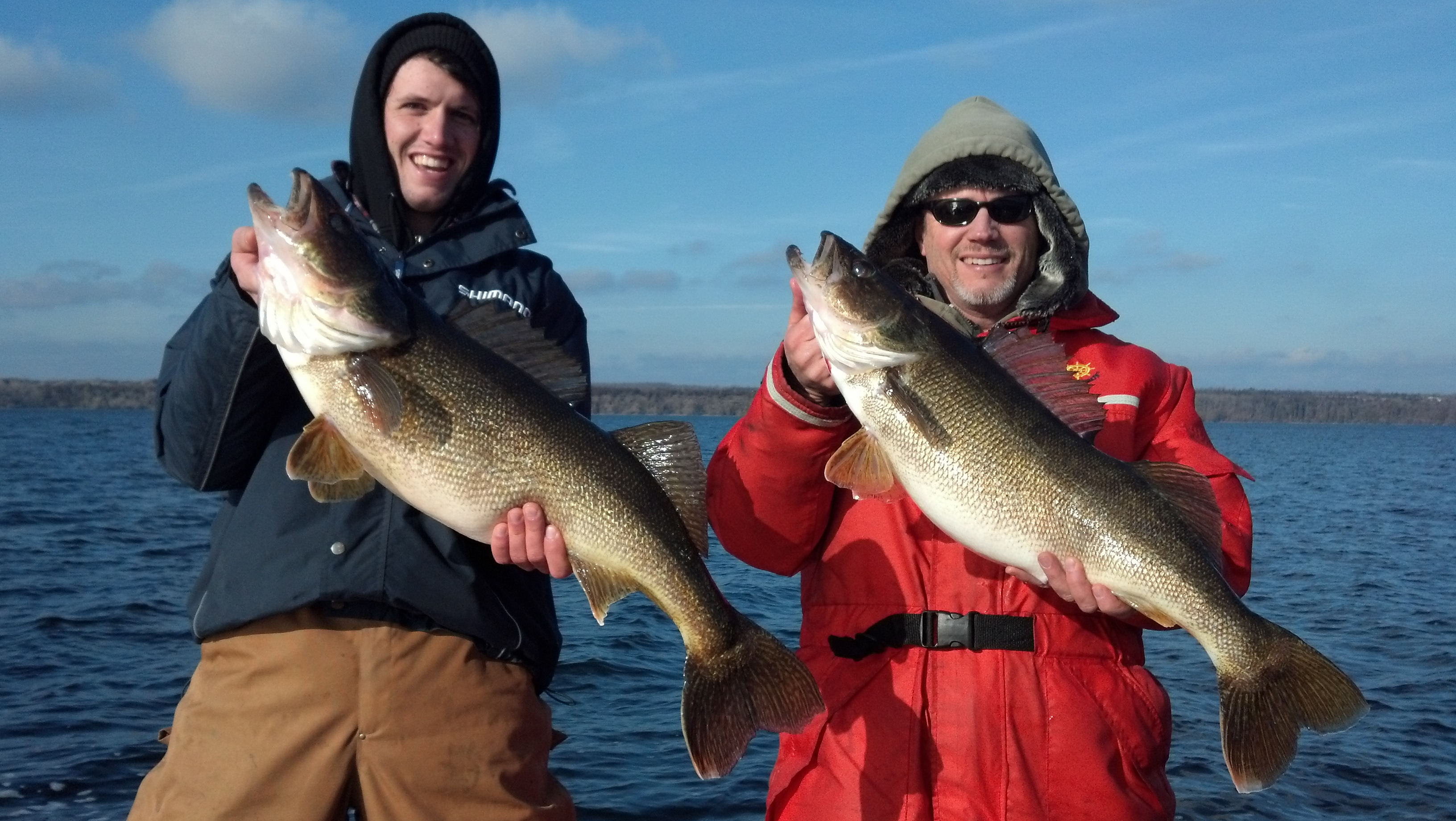 Len Hordyk Burlington Ontario  Late season walleye fishing on the Bay of Quinte can be very