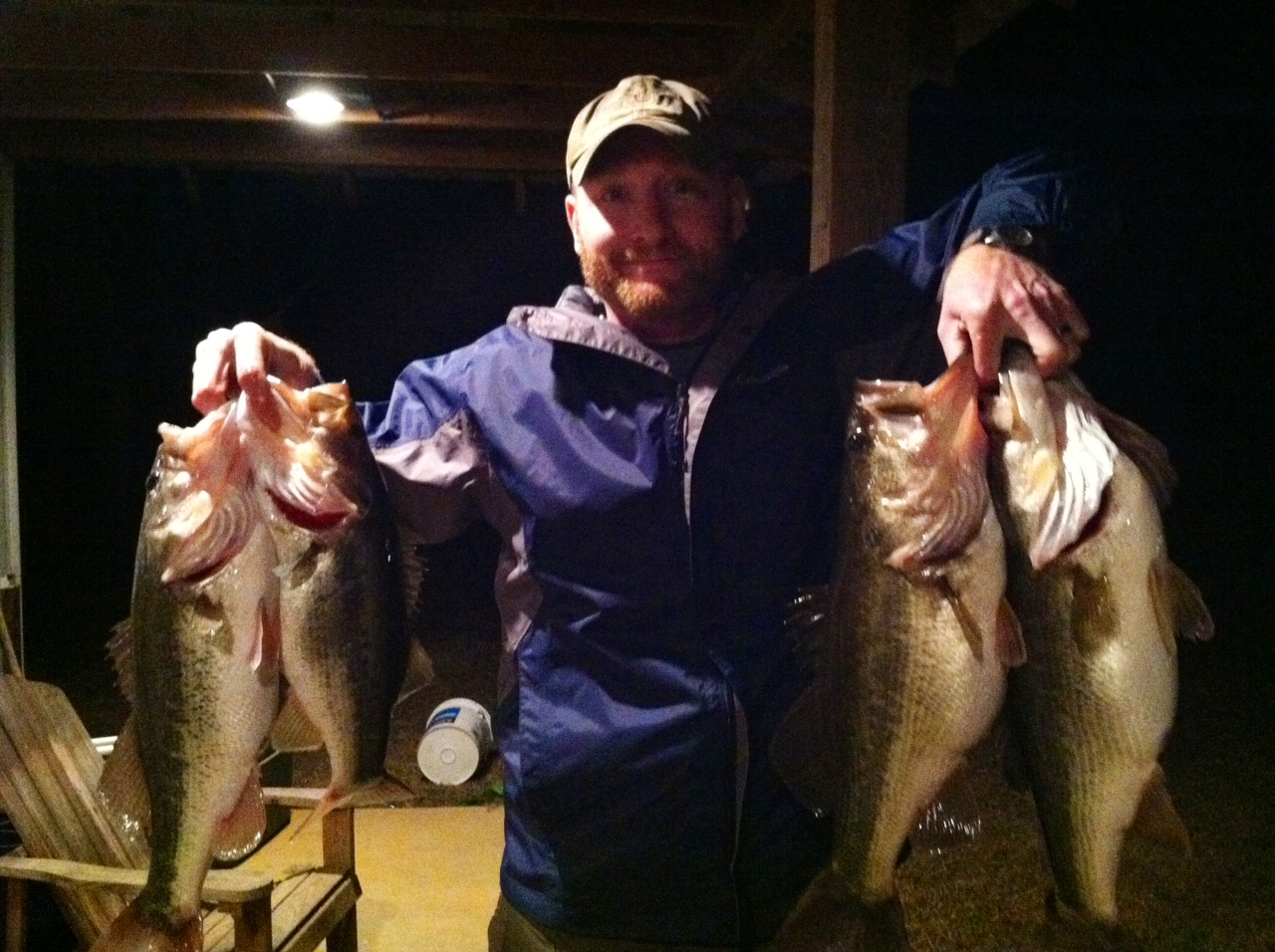 Nic Goodson Warthen Georgia  After a long, cold, windy day on the water with limited success, I