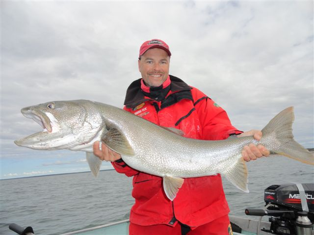 Mike with his mammoth lake trout