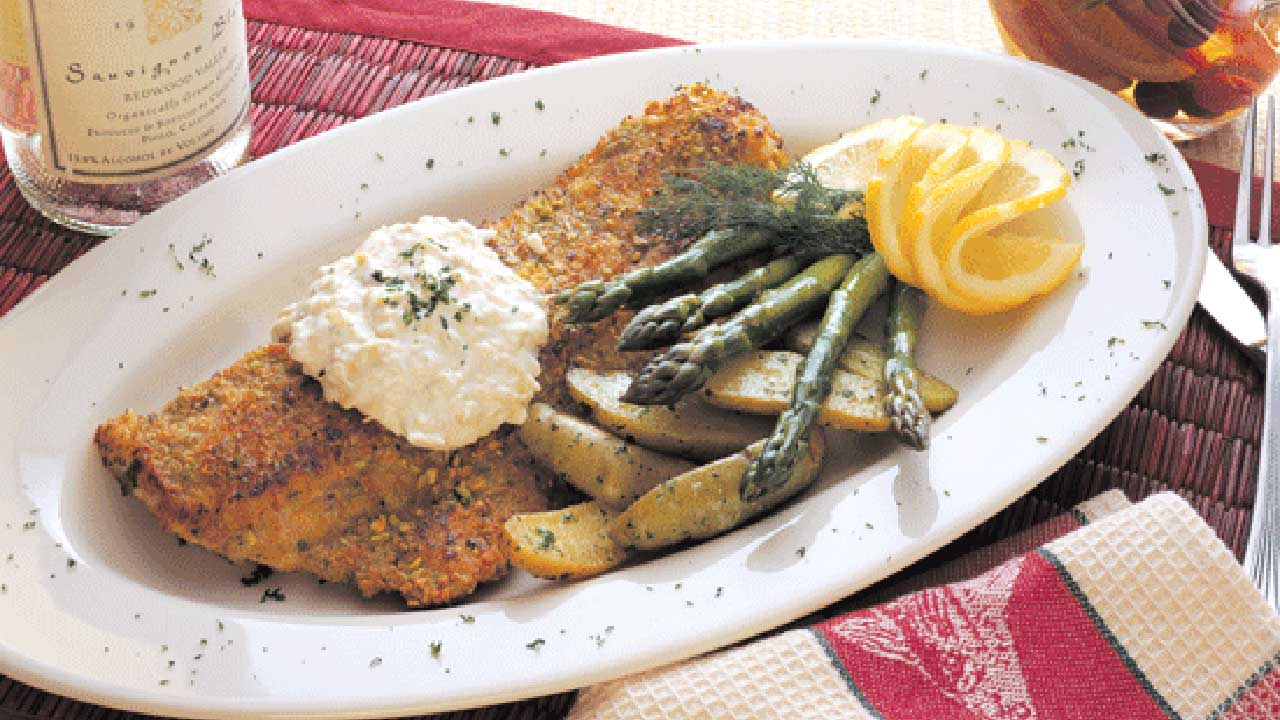 Pistachio-Crusted Walleye Recipe